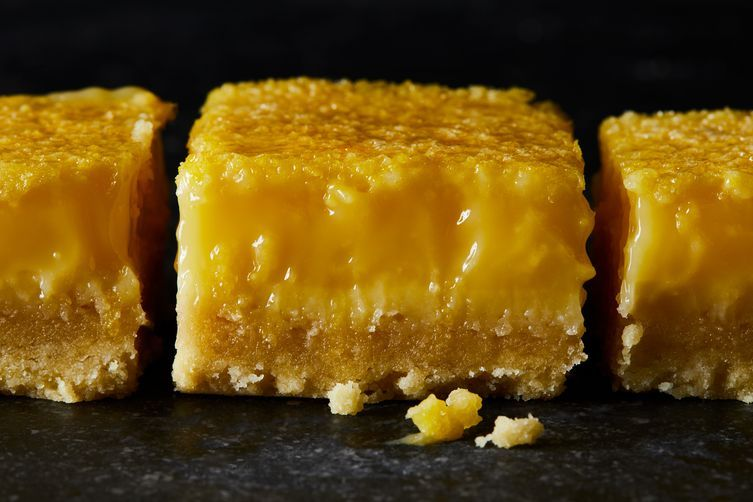 Lemon Bars With a Salty Olive Oil Crust #oliveoils