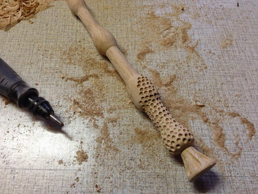 Dremel to carve wand wood school of witchcraft and for Elder wand wood replica