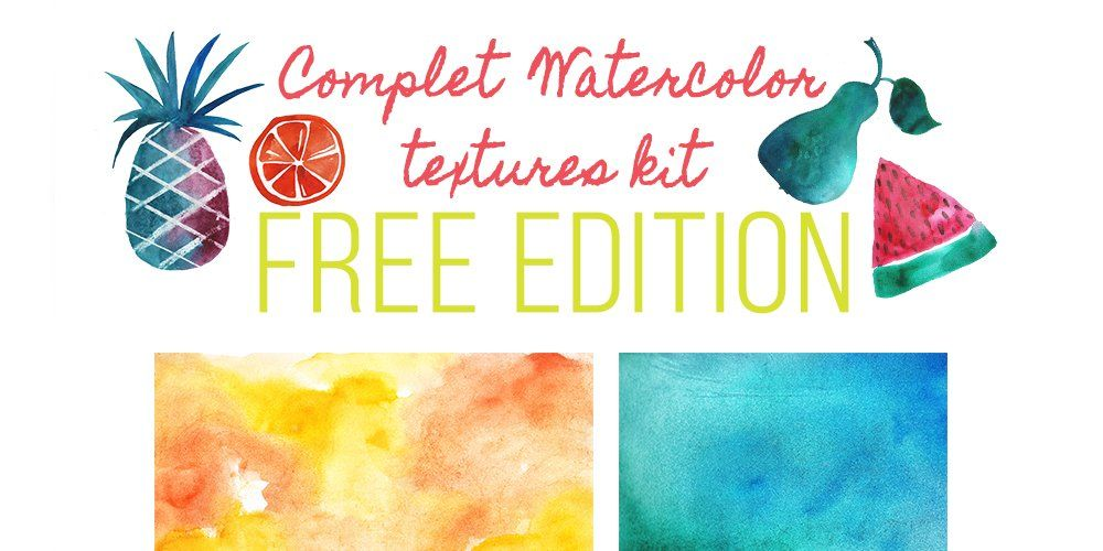 Free Watercolor Textures Kit Watercolor Texture Watercolour