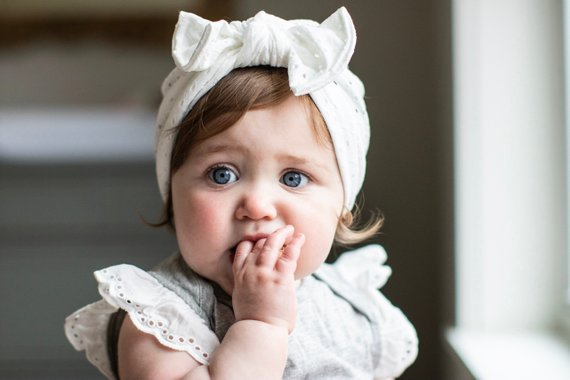 7bb3143ce White Eyelet hat: (soft) •flatbow• baby turban hat, crochet baby ...