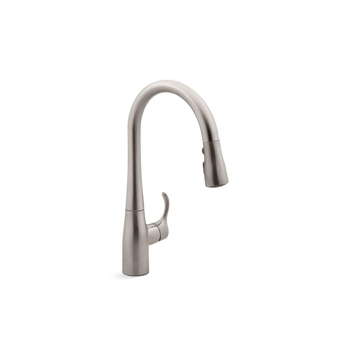 Kohler Simplice Pullout Spray Single Hole Kitchen Faucet K 597 Vs