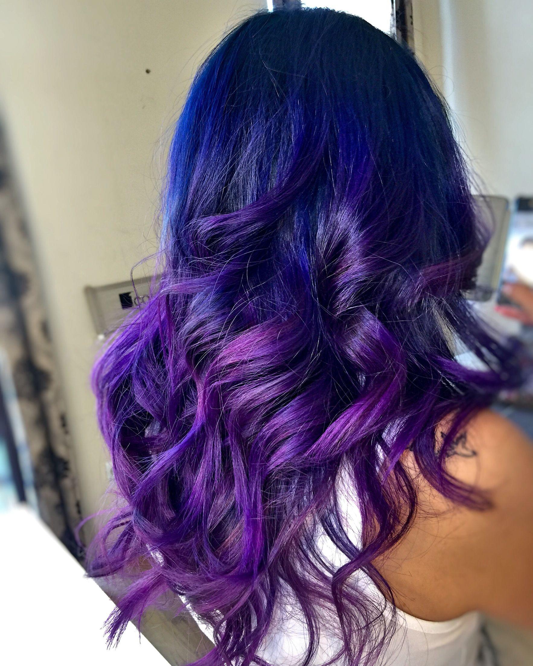 Colomelt hair color violet blue beauty pinterest hair coloring