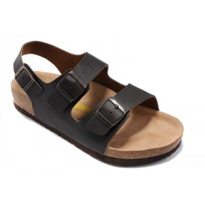 41305f94a86 SIZE 38 Cheap Birkenstock Milano Sandals Unisex Fashion Leather Slippers  (Black) on sale!!!