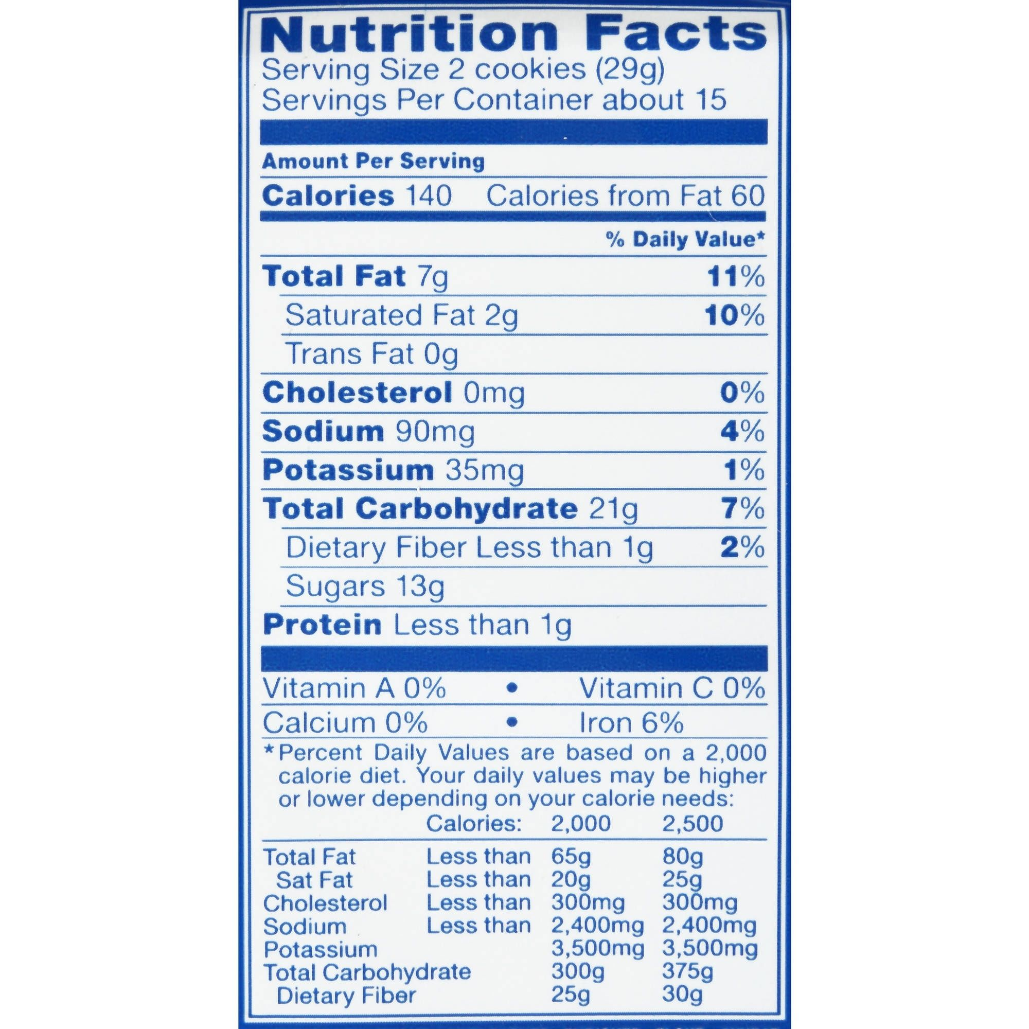 Oreo Cookie Food Label Food Intended For Nutrition Label For Oreos22678 Nutrition Labels Label Templates Cereal Nutrition Label