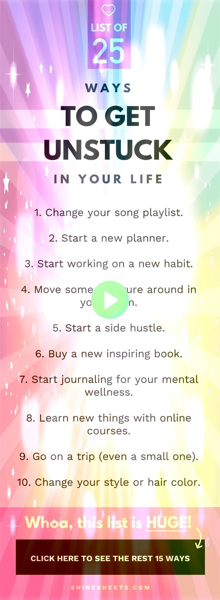 to get unstuck in your life and start feeling motivated  productive again   Personal development Mental health Motivation Productivity Habits Self help Self improvement G...