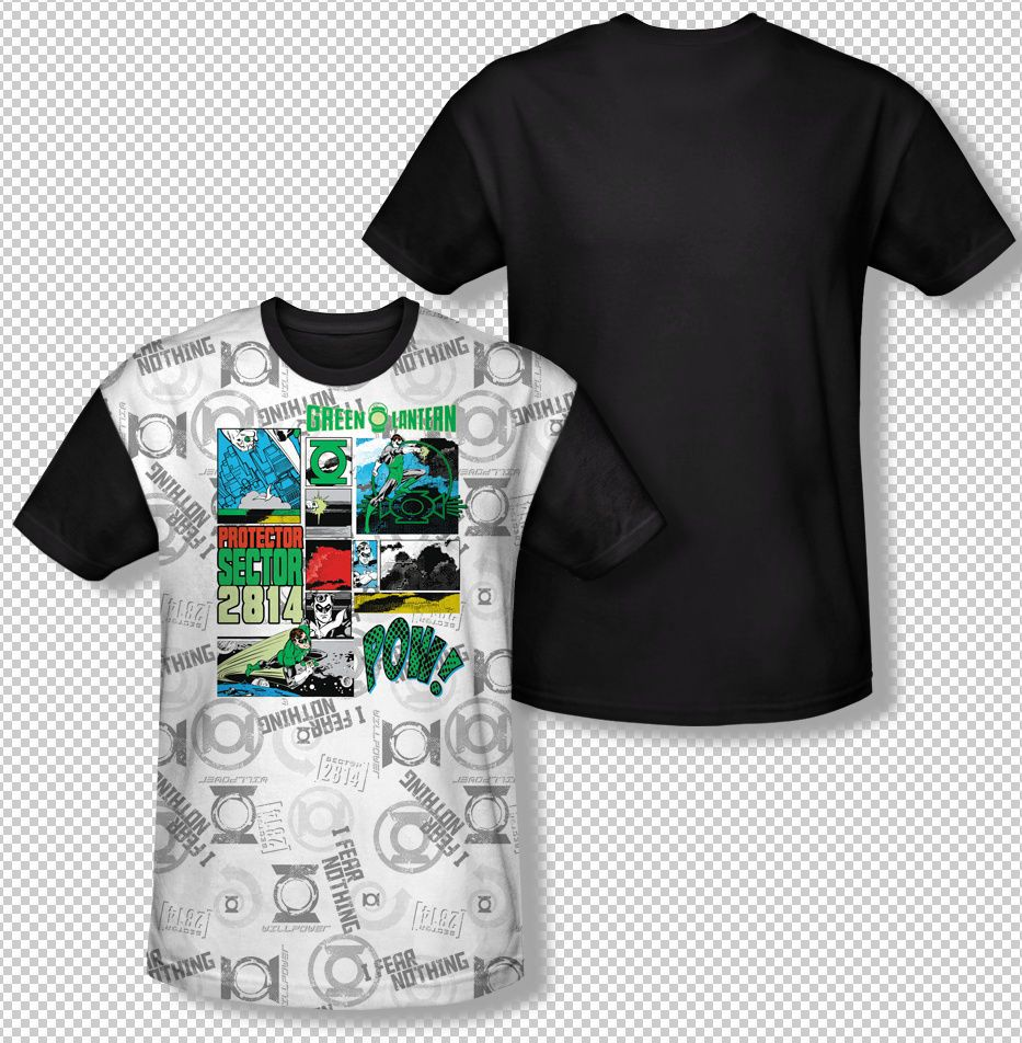 New Green Lantern Protector Sector 2814 All Over Front Sublimation T-shirt Top Mens Sizes: S, M, L, XL, 2XL, 3XL