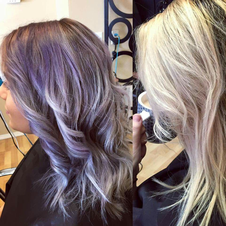 From brown to lilac silver