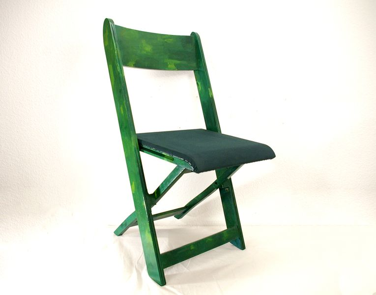 Klappstuhl holz stoff  Klappstuhl aus Holz alt von Schlüter Kunst und Design - Stühle ...