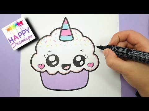 how to draw a cute cupcake unicorn super easy and kawaii youtube childrens art pinterest drawing disney kawaii doodles and drawings