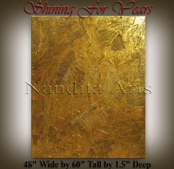 GOLD Art Painting, ORIGINAL Texture Painting, Contemporary Art ...