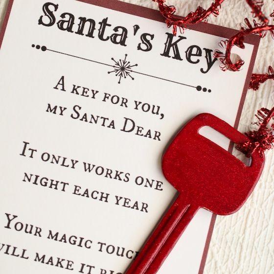 Photo of Santa's Magic Key – With Free Printable Poem – Happy Hooligans