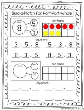 Valentine Domino Math Worksheets Composing And Decomposing