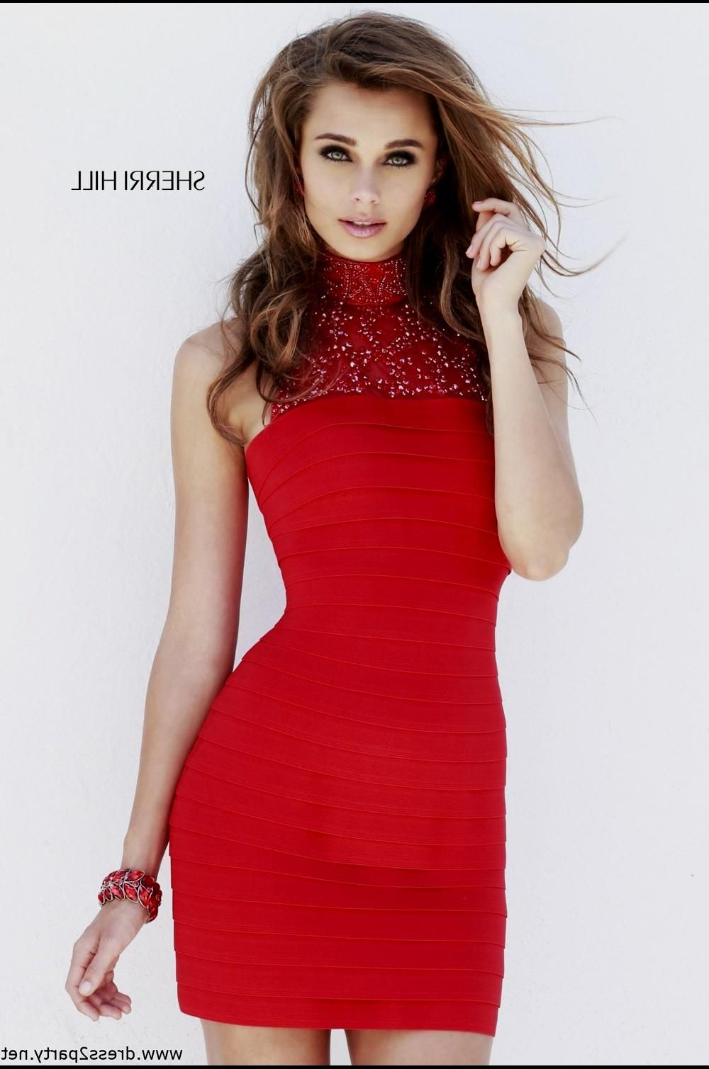 Hermosos vestidos cortos color rojo