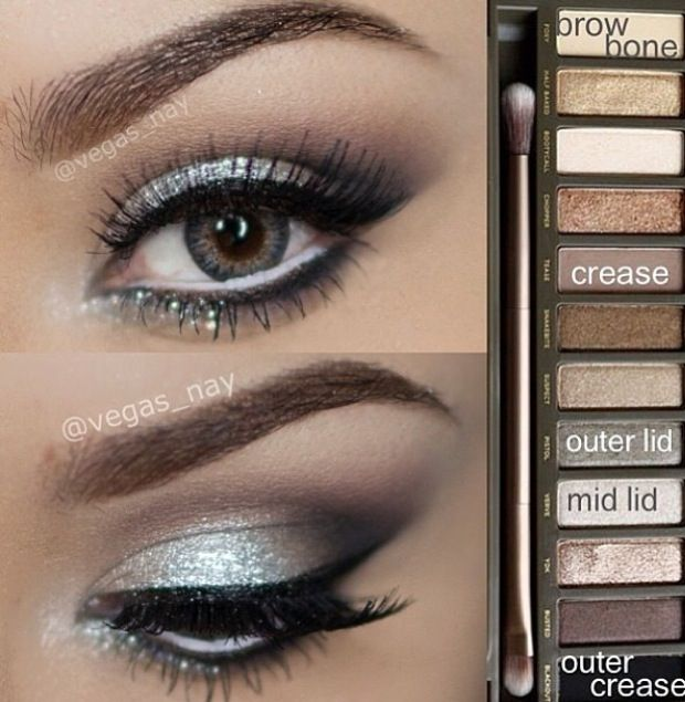I love the eyebrows and the silver sparkles! Urban Decay Palette2