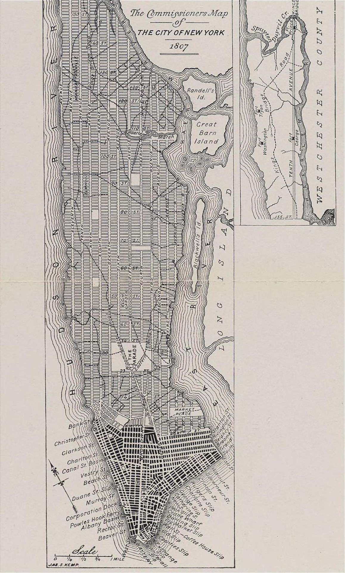 The missioners Plan of the City of New York in 1807