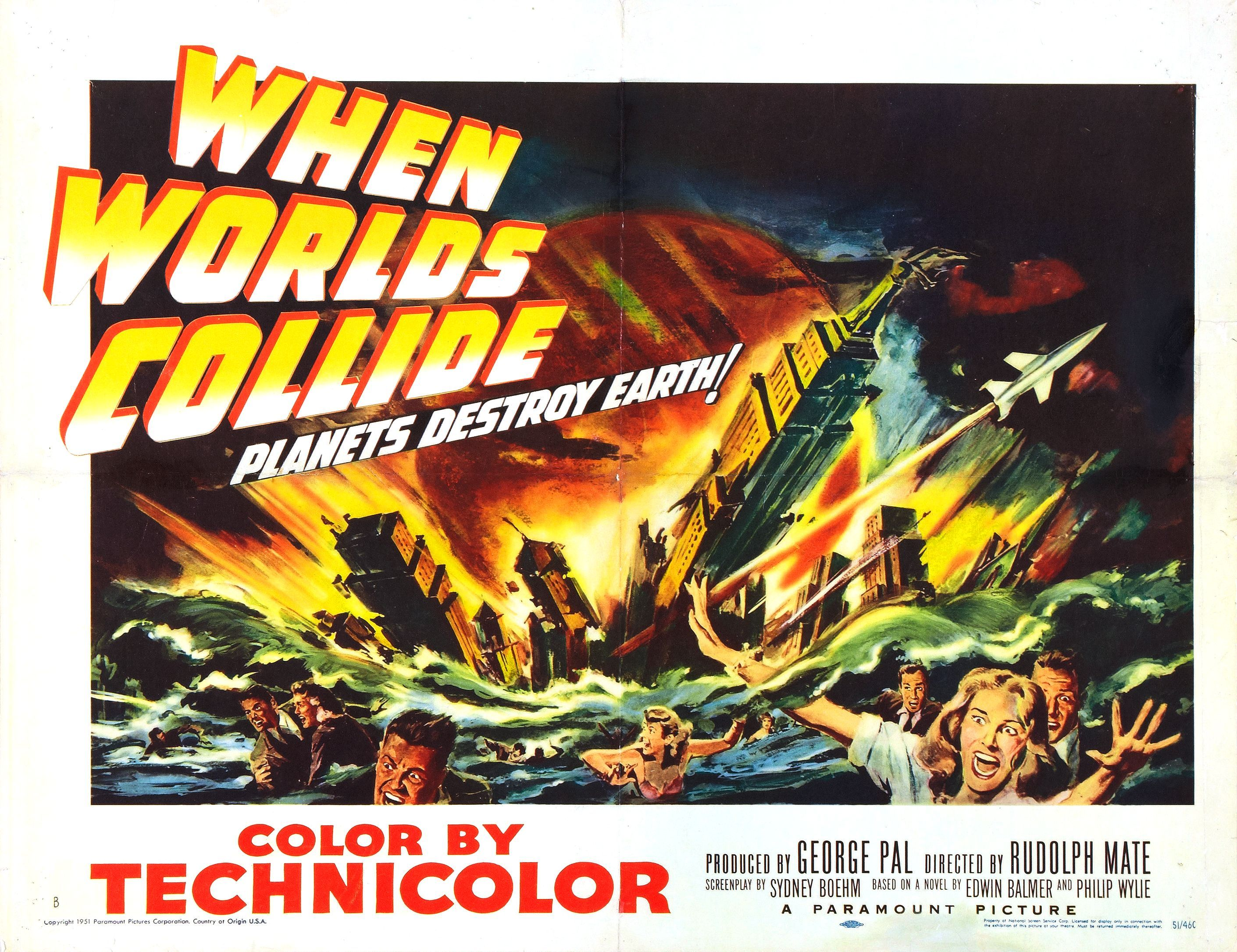 When Worlds collide vintage sci-fi movie poster print