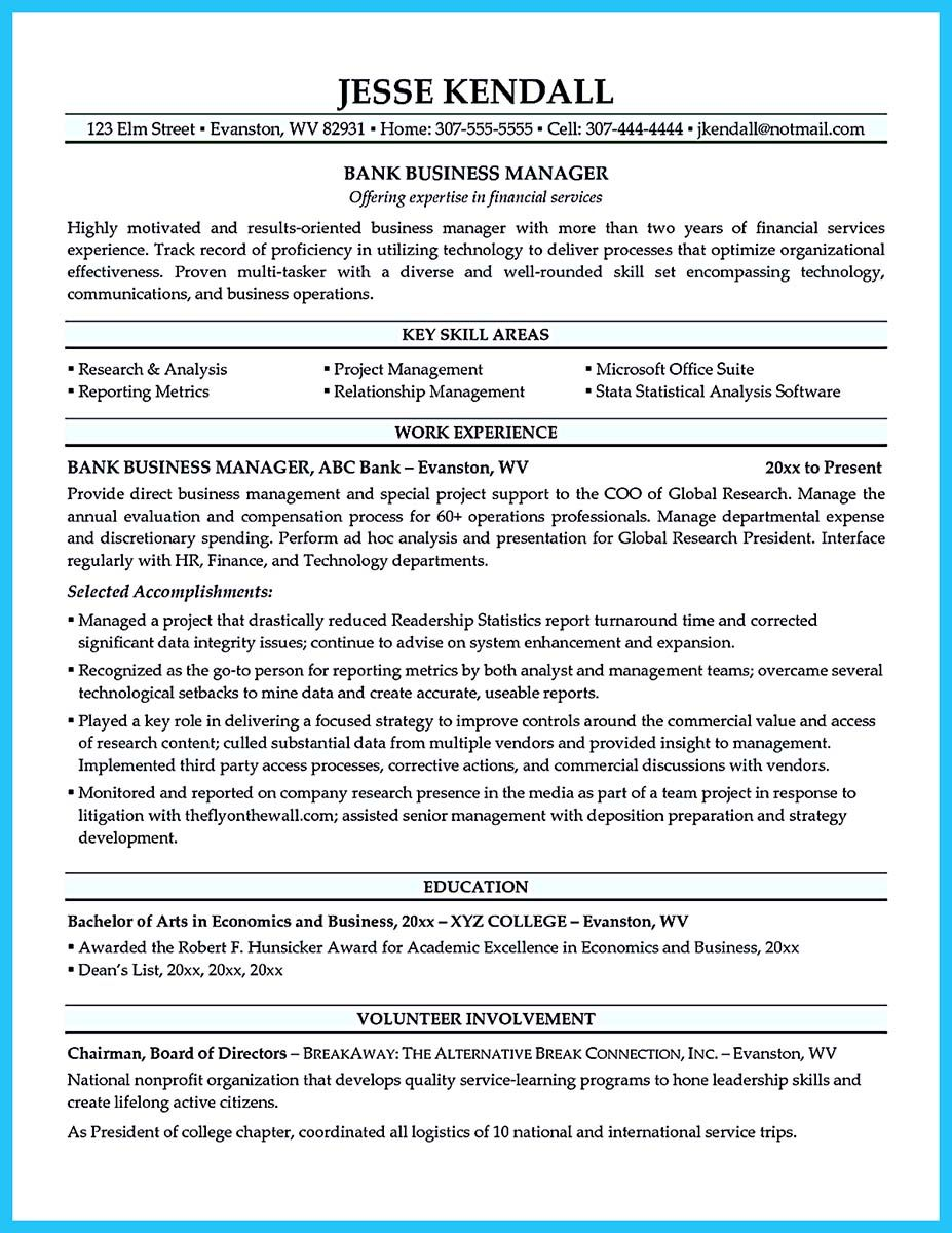 cool The Most Excellent Business Management Resume Ever
