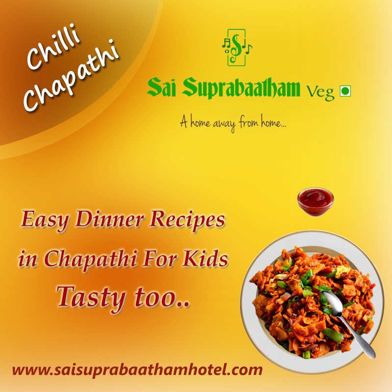 today s menu for summer special chilli chapathi check out