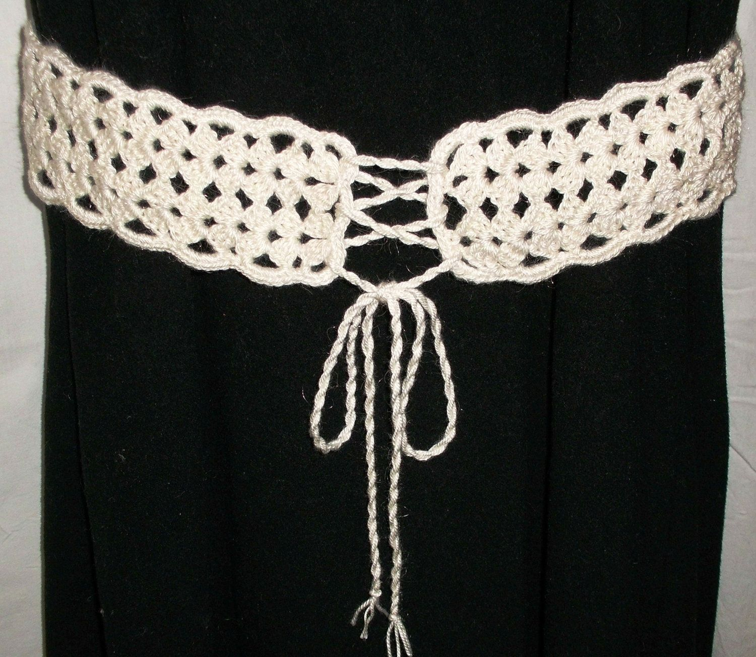 Crochet BELT Retro Style - PATTERN PDF is adjustable for any size ...
