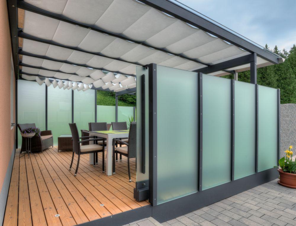 Edelstahlpool, Poolhaus und Terrassen-Überdachungen Fotos #terassenüberdachung