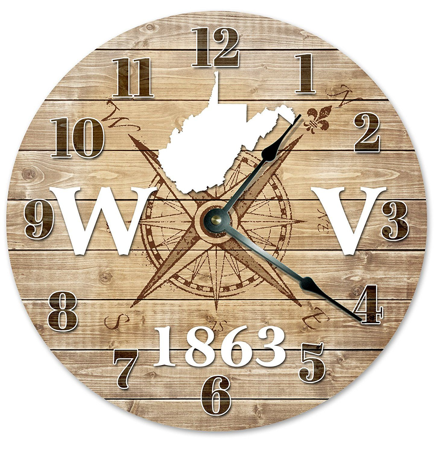 WEST VIRGINIA Established in 1863 Decorative Round Wall