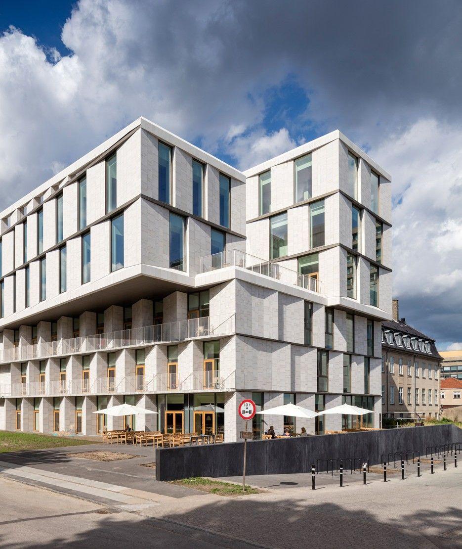 Rigshospitalet By 3xn In Copenhagen Facade Architecture Copenhagen Hotel Healthcare Architecture