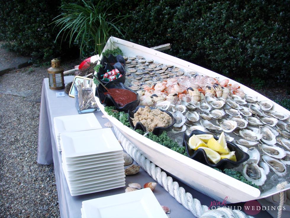 Seafood Buffet. Great Rehearsal Dinner Idea