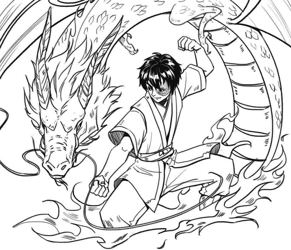 Zuko Training with his Dragon in 2020 Avatar the last