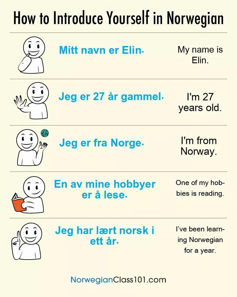Presentarse En Noruego Norway Pinterest Norway Norway