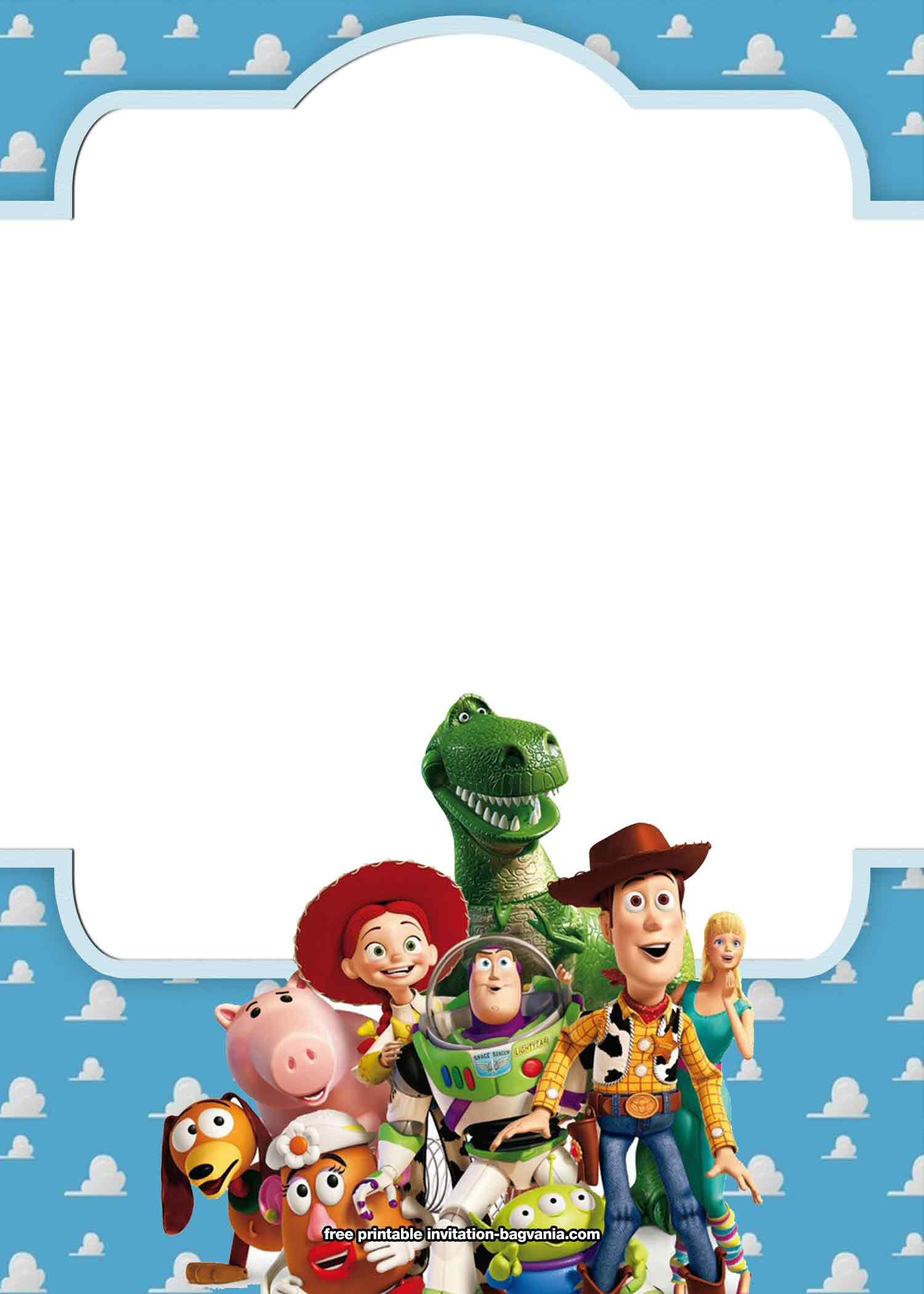 free toy story 4 birthday invitation