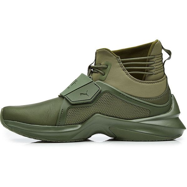 low priced 3b27d 17f1b FENTY Puma by Rihanna Sneakers ( 200) ❤ liked on Polyvore featuring shoes,  sneakers, army green shoes, high top shoes, puma high tops, high-top  sneakers ...