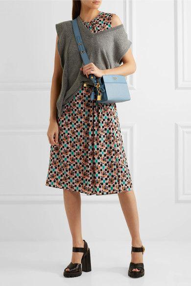 83b19e4f64701 Prada - Esplanade Small Smooth And Textured-leather Shoulder Bag - Sky blue