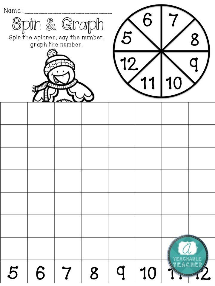 Part of an amazing kindergarten math packet full of prep less winter math activities. $