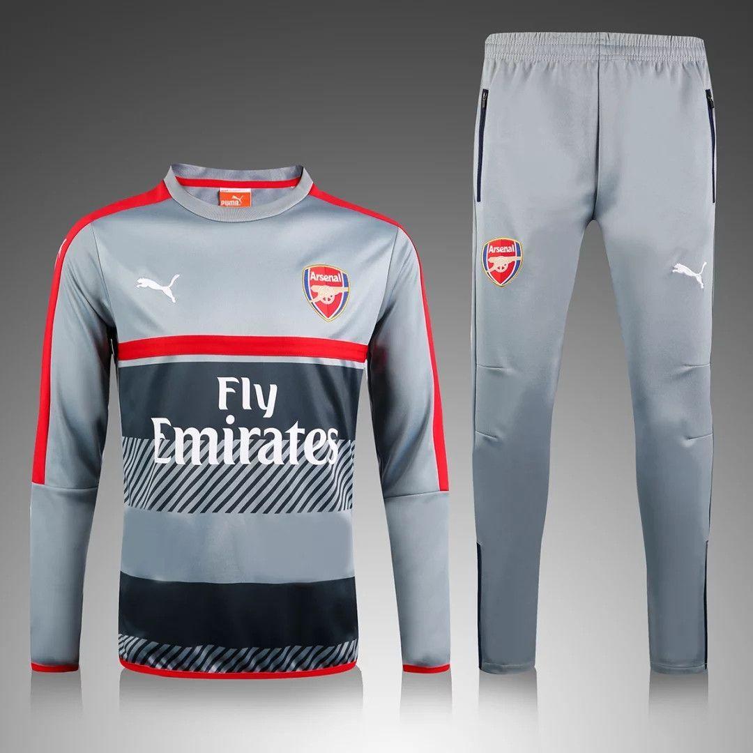 Arsenal 2016/17 Grey Men Tracksuit Slim Fit