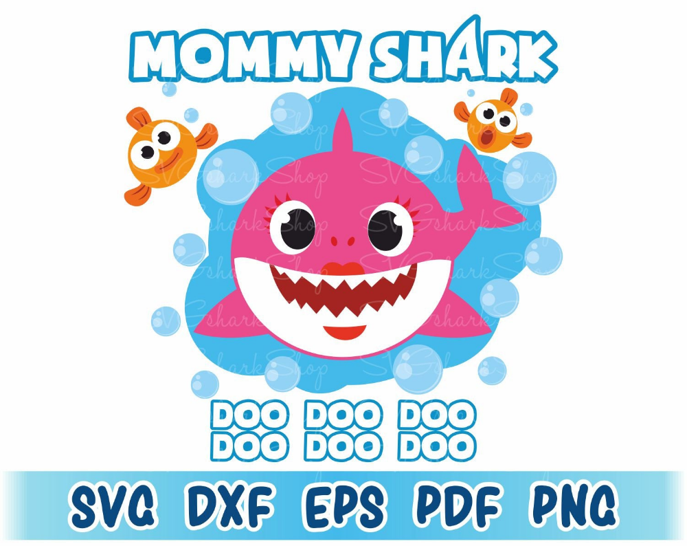 Mommy Shark SVG File, Mommy Shark printable, Mommy Shark