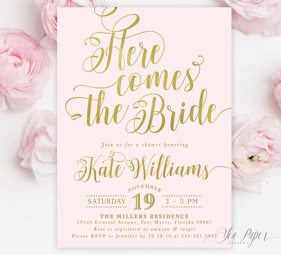 What to Say On Bridal Shower Invitation