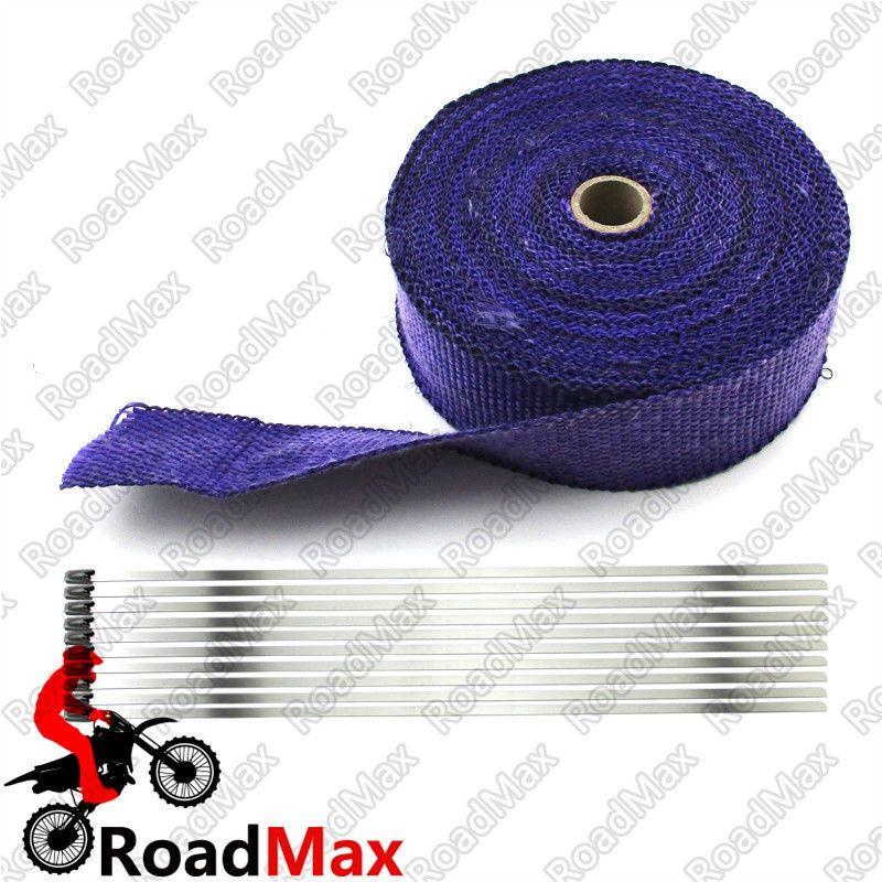 //motorcyclespareparts.net/blue-2-x-50-  sc 1 st  Pinterest & http://motorcyclespareparts.net/blue-2-x-50-ft-exhaust-pipe-heat ...