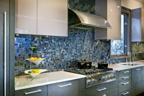 Küchenarbeitsplatte und Küchenrückwand fenster mosaik Fliesen - fliesen für küchenwand
