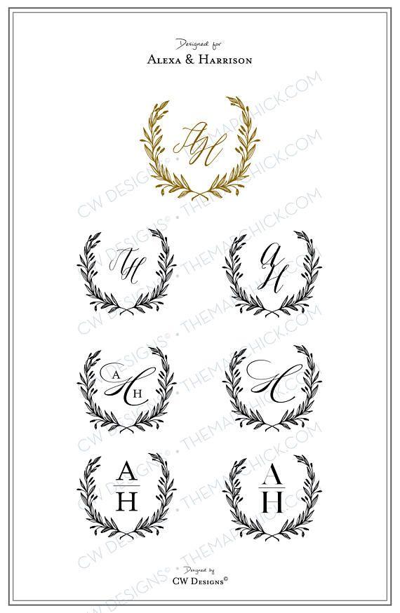 Formal Monogram Wedding logo Wedding Monogram Wedding