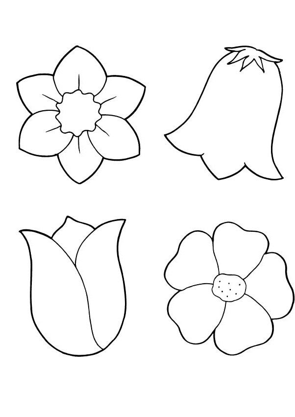 Spring Flowers Coloring Printout - Spring day cartoon coloring pages ...