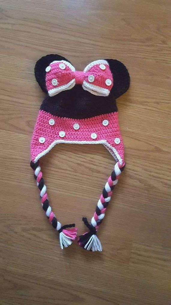 Toddler/Baby Crocheted Minnie Mouse Hat | Minnie Mouse