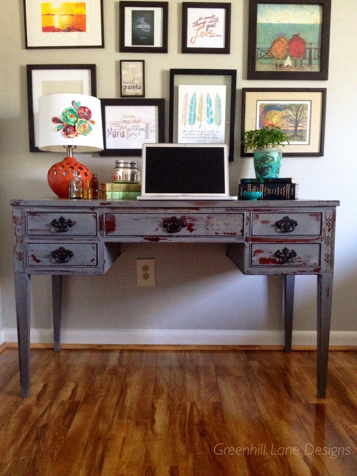 MILK PAINT CHIPPY ANTHROPOLOGIE DESK