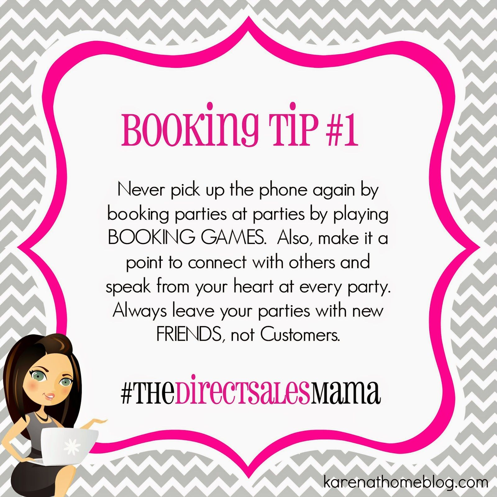The Direct Sales Mama Direct Sales Booking Tip 1