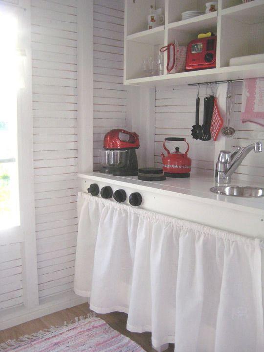 Wendy house interior so sweet playhouse decor ideas girls also best cubby images garden tool storage inside rh pinterest