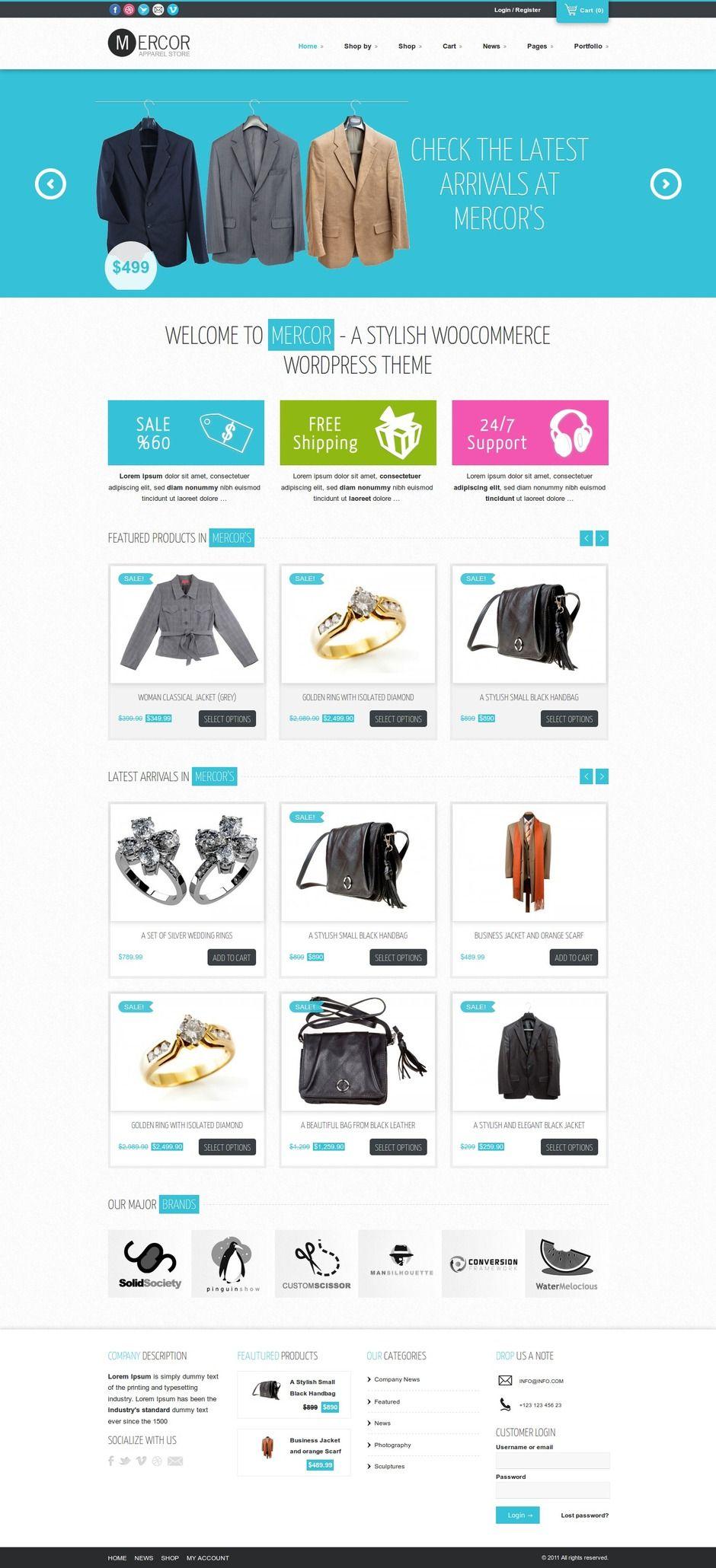 Best Jacket Shopping WordPress Themes 2014