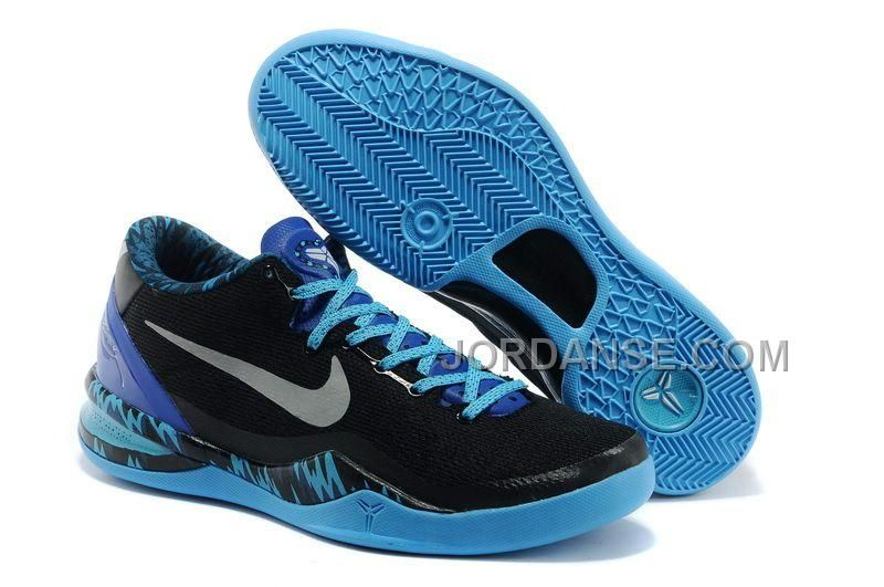 Mens NK Kobe 8 Elite Low Basketball Shoes Black Blue