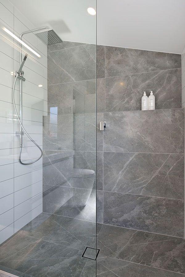 Marvel Grey Fleury Satin 45x90 Floor And Wall Tiles Tilespace Tiles Co Nz Bathroom Wall Tile Bathrooms Direct Bathroom Layout