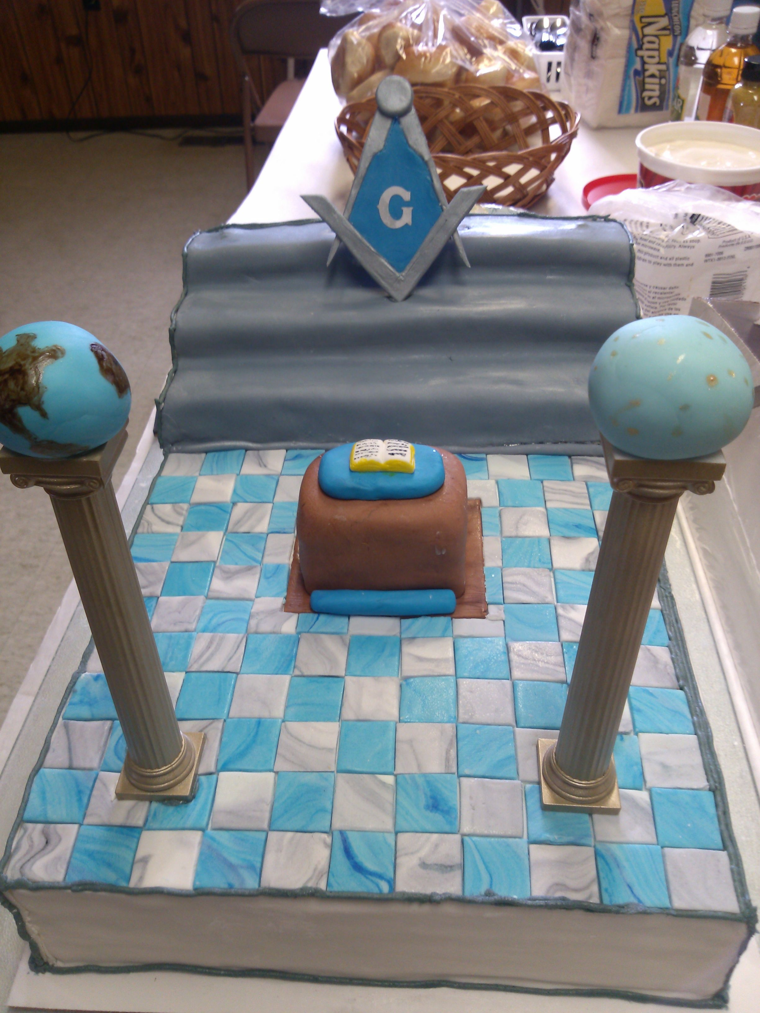 masonic cake for a charity event by sweet peach cakery cakes i ve