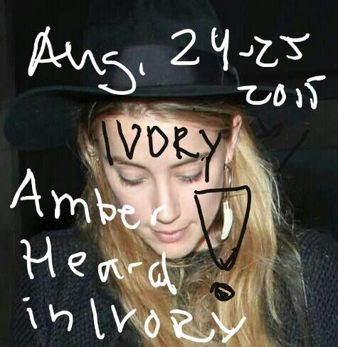 #unofficial #transgender #AmberHeard #AmberHeardDepp wears #Ivory  #always.#signaturejewelry. #animalcruelty #satisfaction #phychopath #TheDanishGirl #LondonFields #violator #blackmails  #JohnnyDepp.