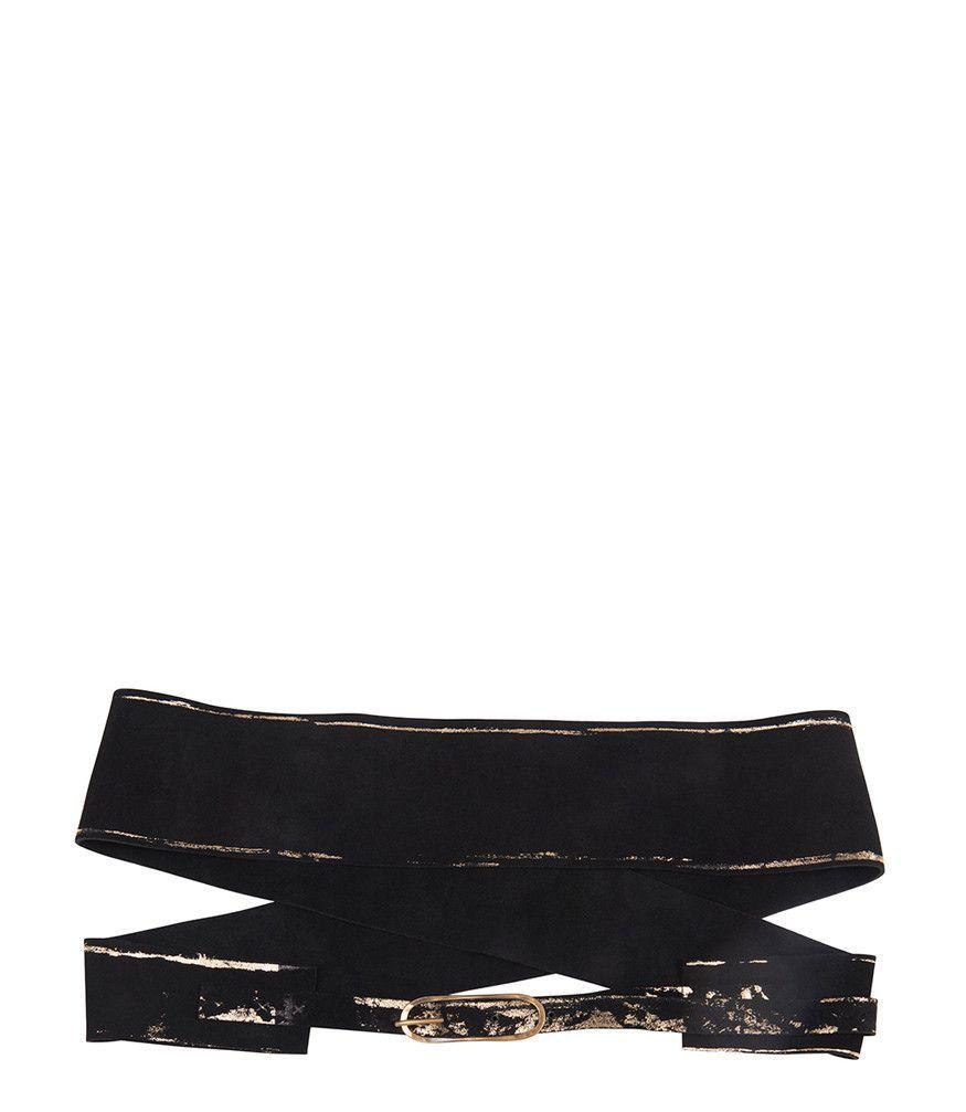 Black Kimono Belt